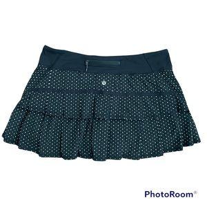 Lululemon Pace Setter Skirt Chevron Dot Black Sz 10
